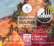 Vernissage exposition Marie Pierre Maurer